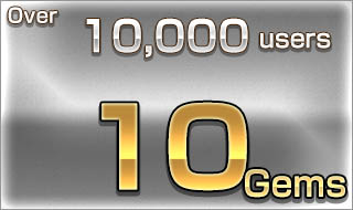 Over 10,000 users/10 Gems