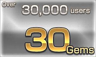 Over 30,000 users/30 Gems