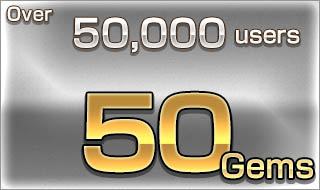 Over 50,000 users/50 Gems