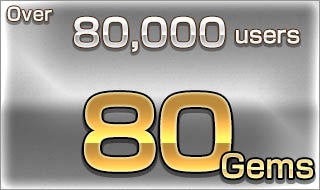 Over 80,000 users/80 Gems