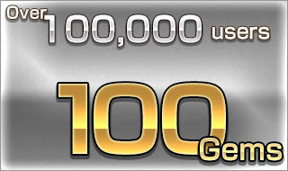Over 100,000 users/100 Gems